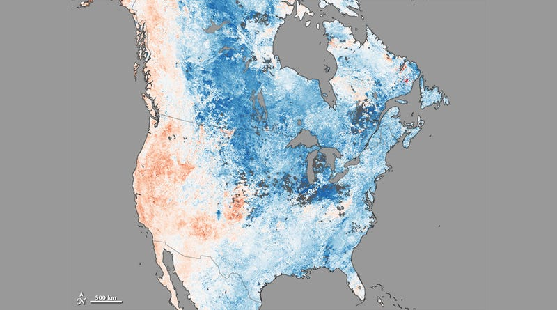 A map showing just how freaky this winter really is