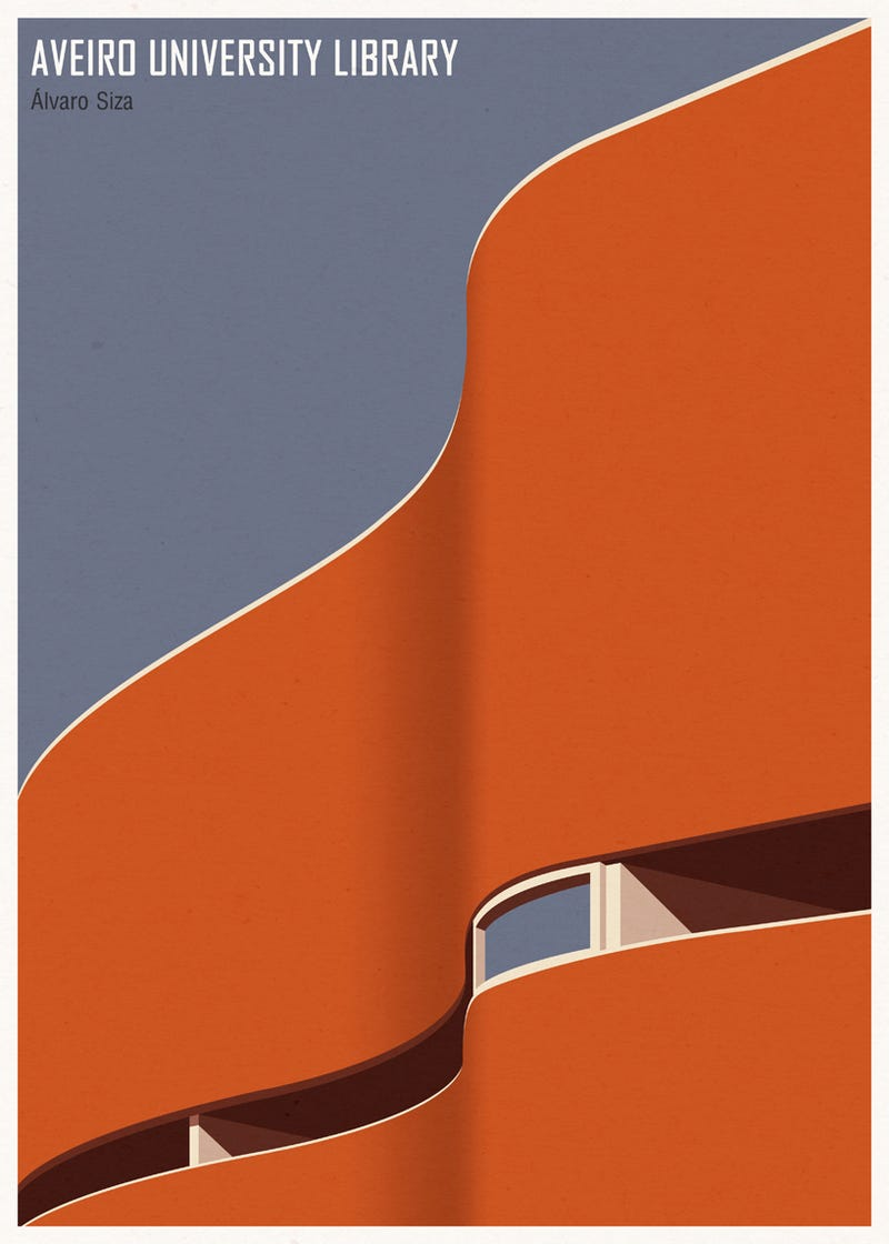 These Minimalist Posters of Famous Libraries Want to Hang on Your Wall Just Beside the Bookshelf