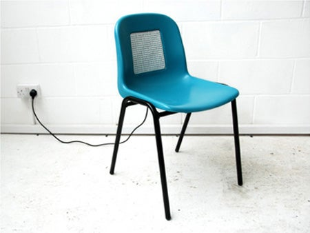 The Mind Chair Transmits Moving Images to the Brain Via the Skin's Nerves