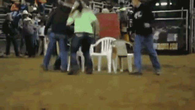 Do Not Challenge This Lady To A Game Of Musical Chairs