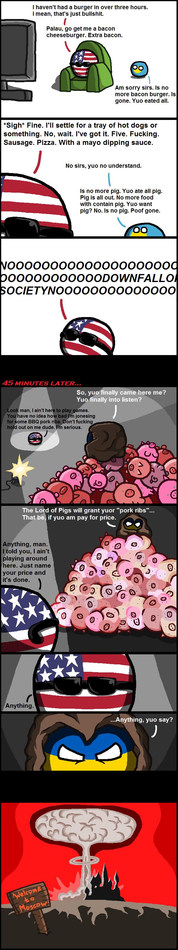 Daily Polandball: No More Pig