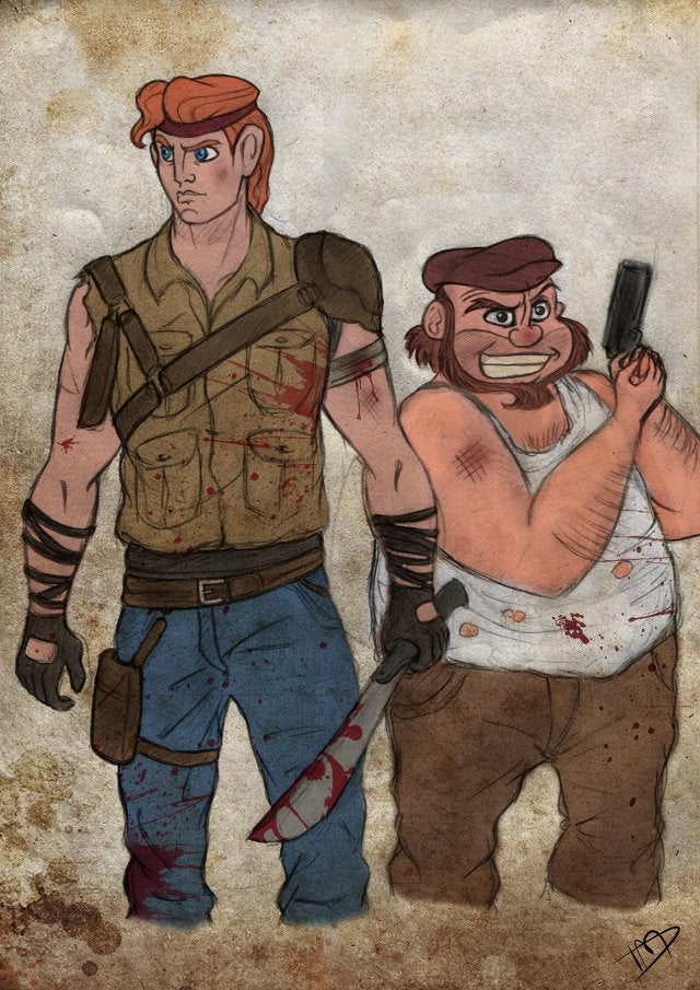 We're So Confused By This Disney/Walking Dead Mashup Art