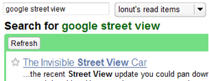 Search Your Read Items in Google Reader