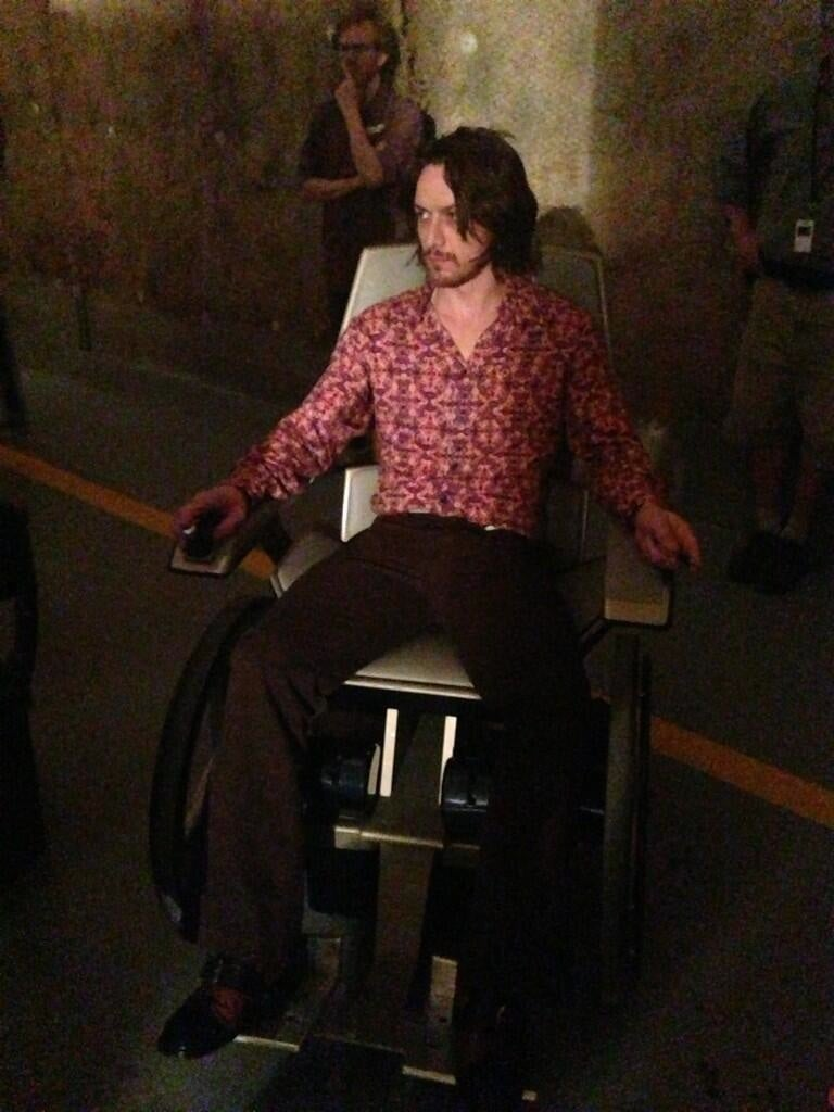 Professor X is a filthy hippie in this X-Men: Days of Future Past pic