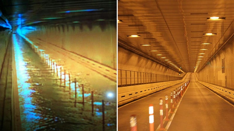 Brooklyn Battery Tunnel Flooded End to End