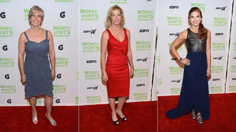 Gold Medals and Gold Dresses at the Salute to Women in Sports Gala