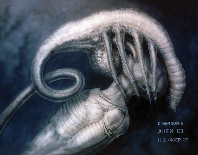 Every Early H.R. Giger Alien Sketch Is Horrific Perfection