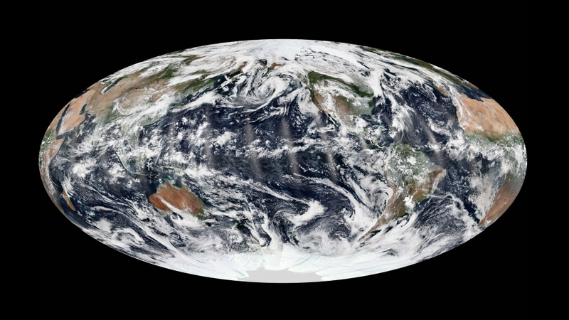 A Rare View of the Earth With Calm Skies