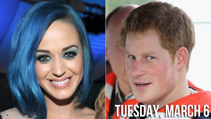 Katy Perry and 'Ginger Ninja' Prince Harry Plan Romp on Palace Grounds