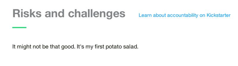 Kickstarter Potato Salad Guy Is a Hero