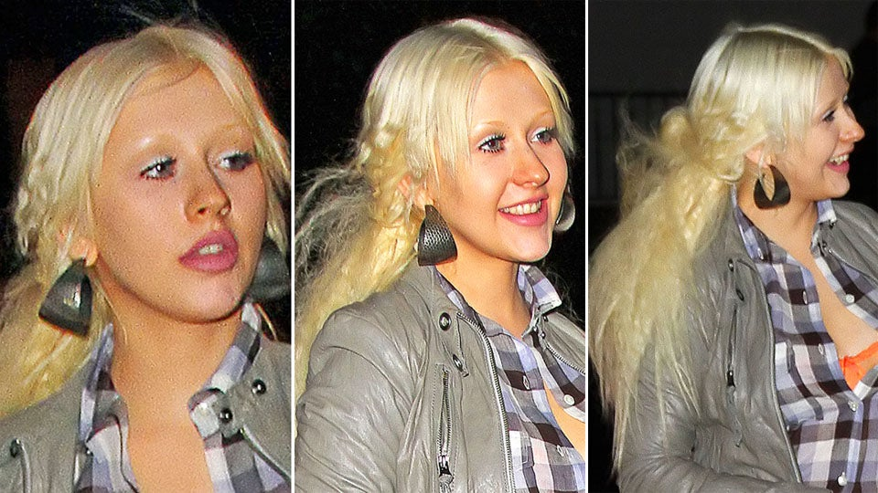 christina aguileras weave takes a turn for the britney