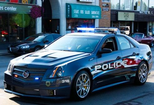 2009 Cadillac CTS-V Police Car Creates Car Enthusiast Paradox