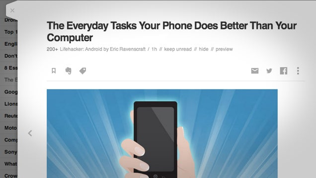 Feedly Adds Slider View to Read Articles Without Losing Your Place