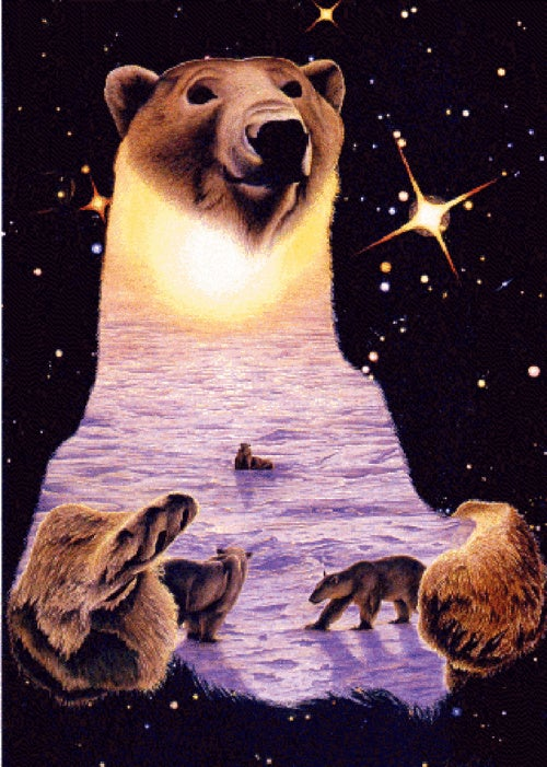 Behold the most transcendently cheesy paintings of animals among the stars