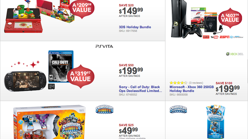 Best Buy's Black Friday Deals Include A $200 250 GB Xbox 360 Bundle, Assassin's Creed III for $35 and More.
