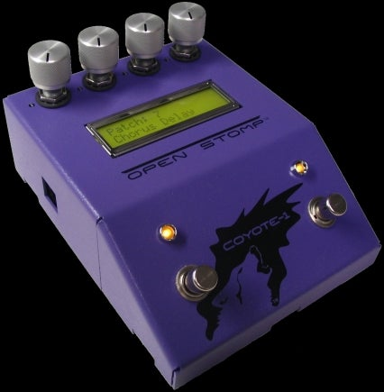 OpenStomp Coyote 1 is Hackable Open Source Effects Pedal For Real Guitar Heroes