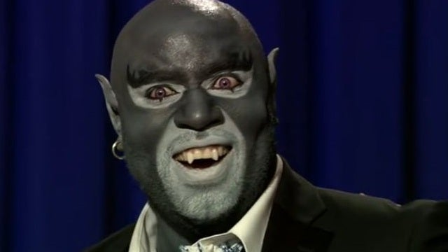Panthro performs a cabaret-style version of the Thundercats theme, with backup dancers