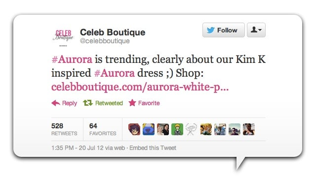 Dumb Store Wonders If 'Aurora' Is Trending Due to Kim Kardashian Dress It Sells [UPDATED]
