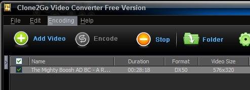 Clone2Go Bulk Converts Video Formats