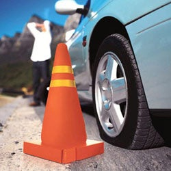 Blow Up Traffic Cone Ensures Roadside Safety