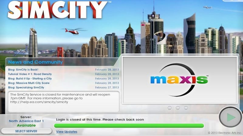 Yep, SimCity Still Isn't Working