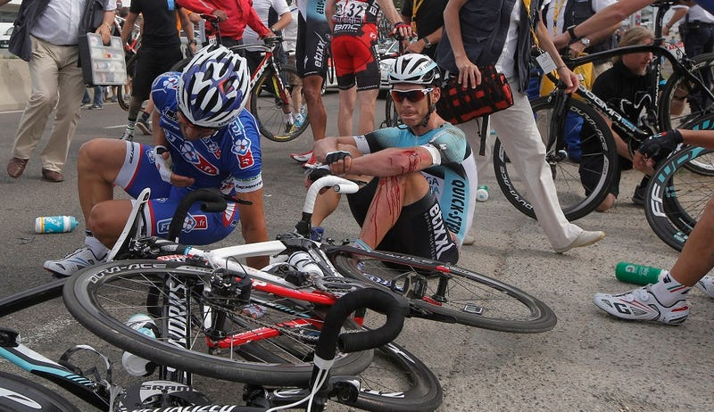 The Tour De France Is Back And It's A Bloody Mess