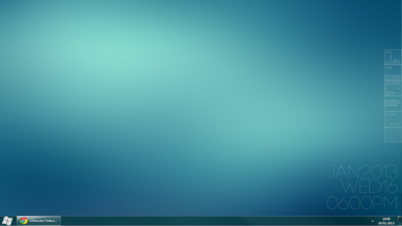 The Clean, Empty Desktop