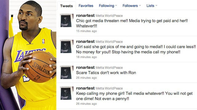 Stay Tuned On Monday For A Strange Tale Of Sexting With Ron Artest
