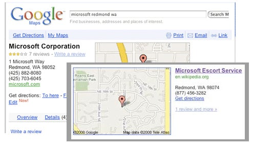 Microsoft HQ Listing Hijacked on Google Maps, Briefly Becomes 'Microsoft Escort Service'