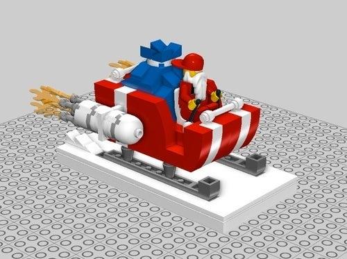 Build a Lego Santa's Sleigh with Powerpig