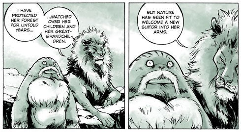 A Silent Yeti in a Forest of Wisecracking Critters