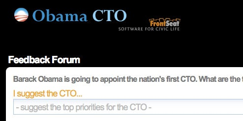 Obama CTO Lets You Suggest and Vote on Technology Priorities