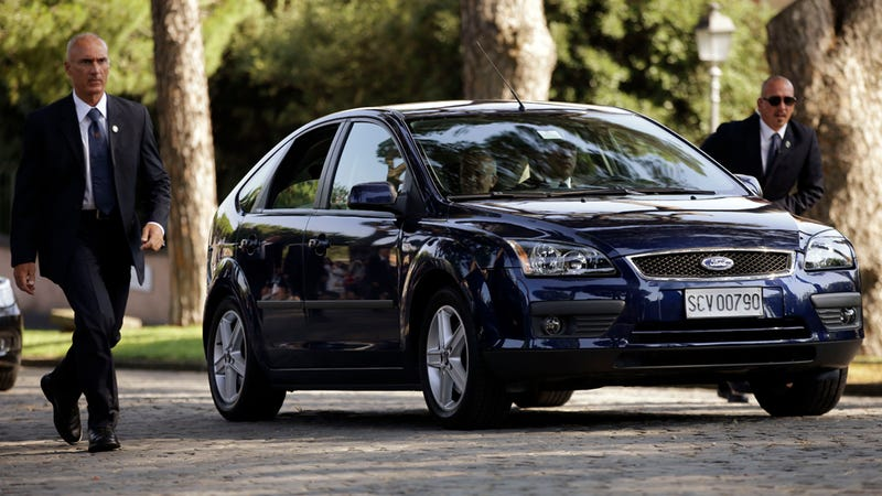 Pope Francis Rolls In An Old Ford Focus