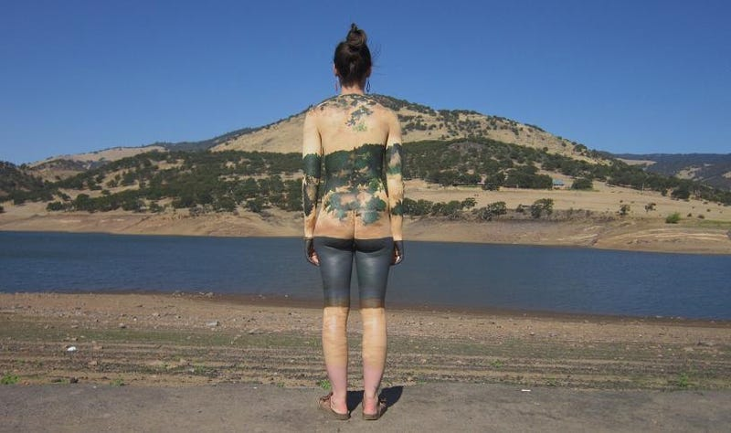 Nude Models Use Bodypaint To Blend In With The Scenery (20
