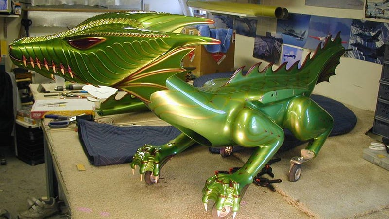 This Flying Remote-Controlled Dragon Actually Breathes Fire