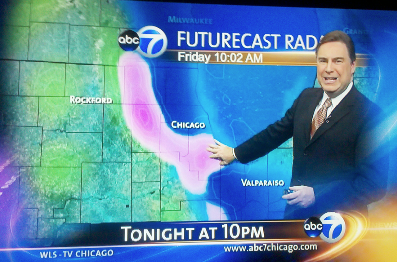 A Pink Weather Dong Grows Near Chicago