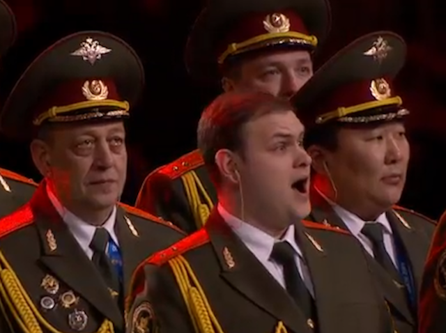 "Russian Police Choir Sings ""Get Lucky"" Before Sochi Opening Ceremony"