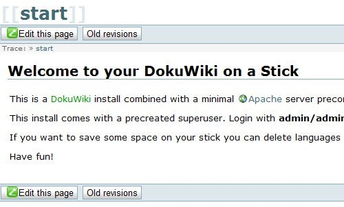 DokuWiki on a Stick Packs a Portable Wiki in a Tiny Package