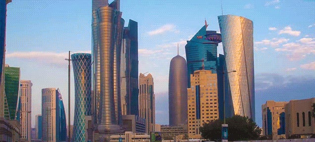 Qatar is so fantastically shiny that it looks like a 3D render