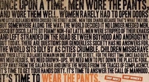 "The Dockers ""Man-Ifesto"": Pants, Pants, Devolution"