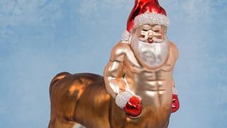 This Santa-Centaur Christmas Decoration will Haunt your Nightmares