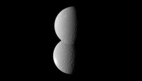 Two of Saturn's moons merge into one...or so it would seem
