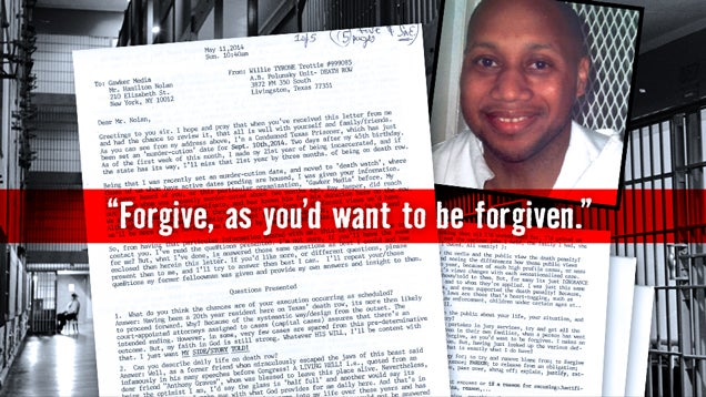 Letters From Death Row: Willie Tyrone Trottie, Texas Inmate 999085