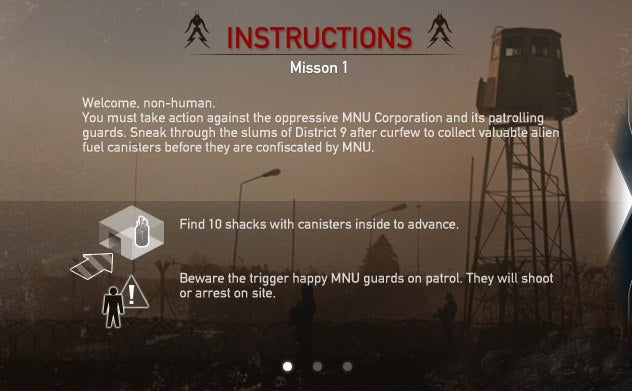 Practice Your Alien Target Shooting In The District 9 Online Game