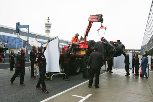 Add A Tube Back In: The First Crash Of The New Lotus F1 Era