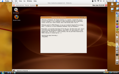 Test out the Ubuntu interface on the web