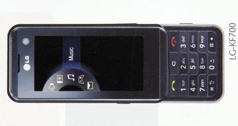 LG KF700 Touchscreen Cellphone Spotted