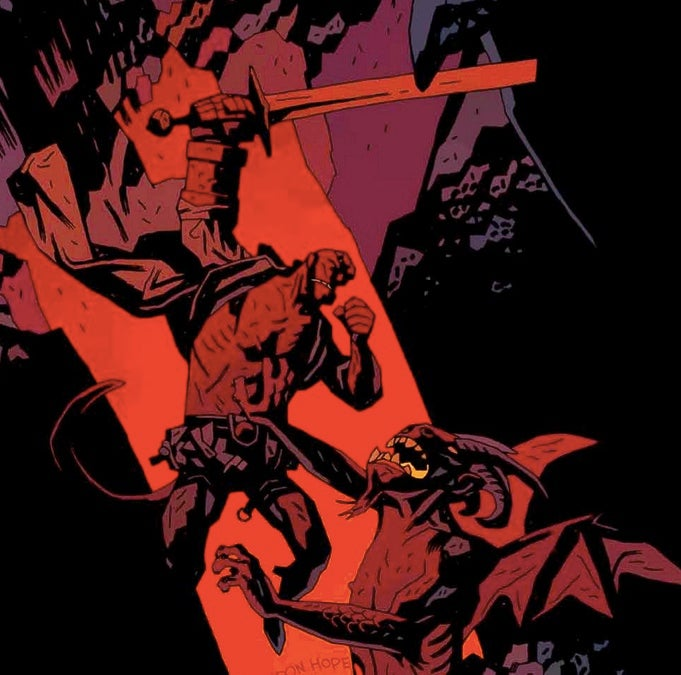 Hellboy's on a one-way trip to Hell, and Mike Mignola's our tour guide