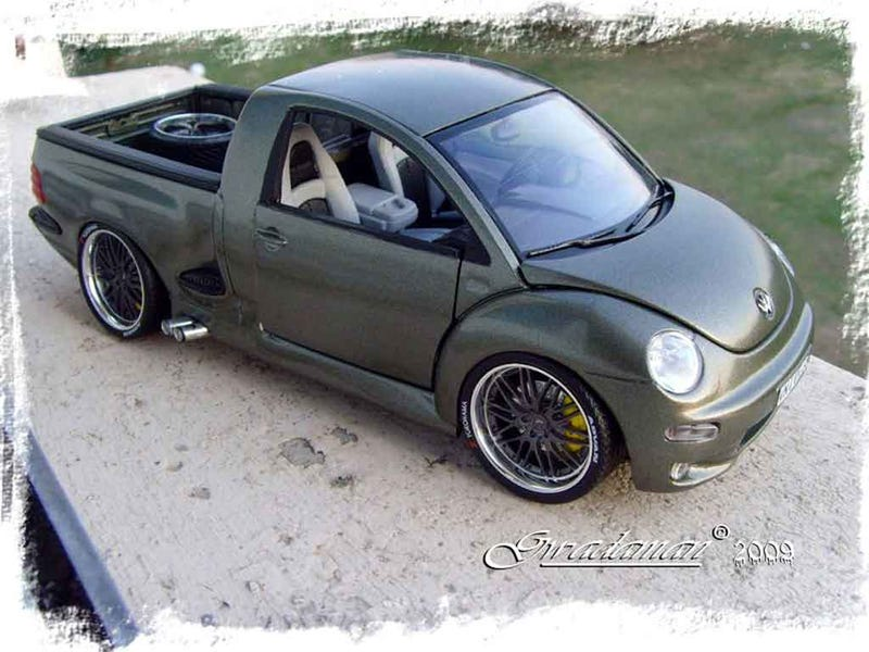No, this New Beetle ute isn't real but I'd still drive it