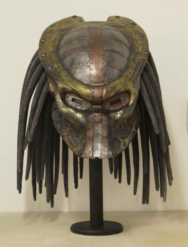 Steampunk Predator helmet is perfect for your Victorian era trophy hunt